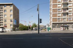 Aperçu de la rue Adrien Meslier depuis le boulevard Victor Hugo - Septembre 2014
